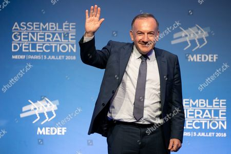 Pierre Gattaz at the general election assembly.
