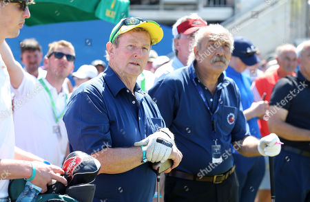 Stock Picture of Enda Kenny and Jihad El Sibai take part in the Pro-Am at Ballyliffin.
