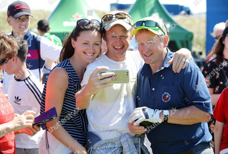 Stock Photo of Enda Kenny meets fans at the Pro-Am at Ballyliffin.