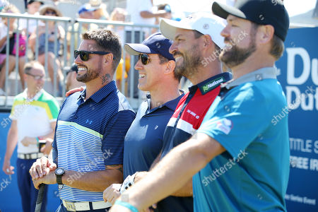 Keith Duffy, Anton Du Beke, David Howell and Brian McFadden meets fans at the Pro-Am at Ballyliffin.