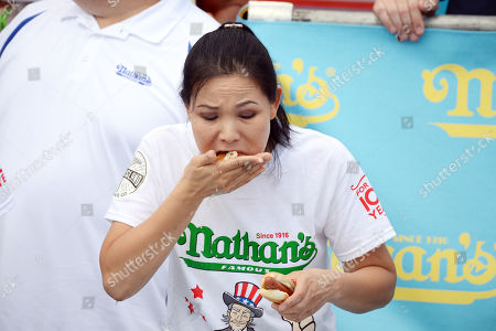 Editorial image of Nathan's Famous Fourth of July Hot Dog Eating Contest, New York, USA - 04 Jul 2018