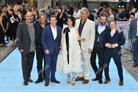 (L-R) Ol Parker, Rupert Graves, Rob Brydon, Charlotte Riley, Jim Carter, Daniel Mays, Thomas Turgoose
