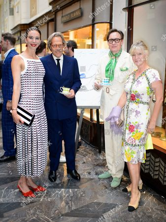 Kristina Blahnik, Lord March, Nick Foulkes and Lady March