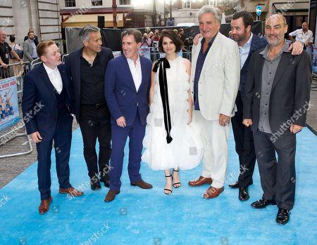 Stock Picture of Thomas Turgoose, Rupert Graves, Rob Brydon, Charlotte Riley, Jim Carter, Daniel Mays & Ol Parker (Director)