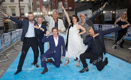 Stock Photo of Daniel Mays, Thomas Turgoose, Jim Carter, Rob Brydon, Charlotte Riley, Ol Parker (Director) & Rupert Graves