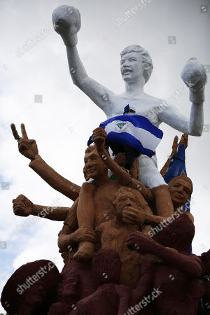 People protest in Managua, Nicaragua, 04 July 2018. Since past 18 April Nicaragua is going through a socio-political crisis that has left 310 dead in protests against President Daniel Ortega and wife Rosa Murillo after eleven years in power, under accusations of abuse and corruption.