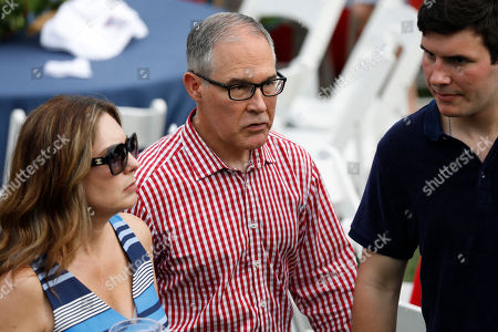 Scott Pruitt, administrator of the Environmental Protection Agency (EPA) attends a picnic for military families in Washington, D.C., U.S.