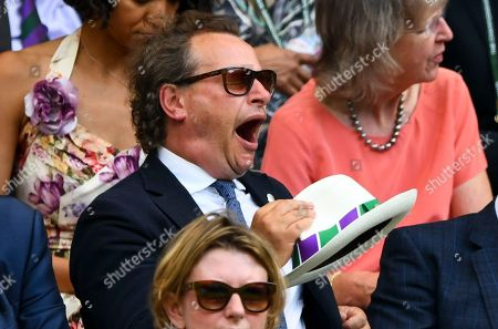 Neil Stuke yawns while watching from the Royal Box