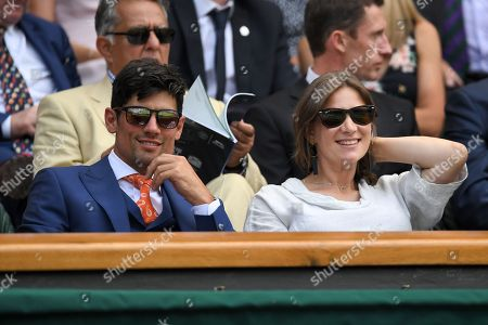 Alastair Cook and wife Alice Cook in the Royal Box