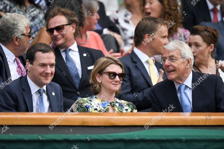Stock Image of George Osborne, Frances Osborne and Sir John Major in the Royal Box