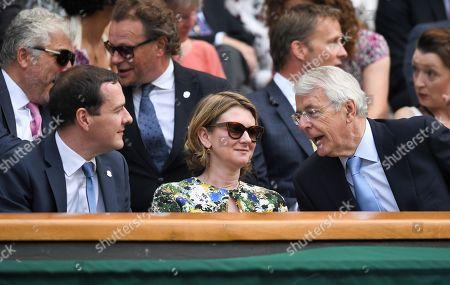 George Osborne, Frances Osborne and Sir John Major in the Royal Box