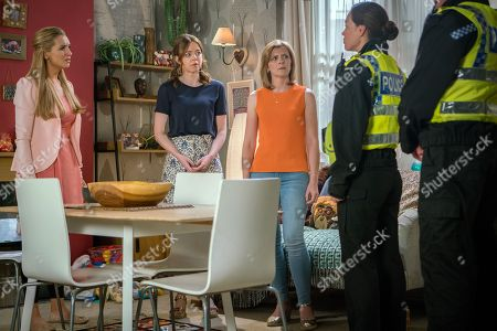 Ep 9510 Wednesday 18th July 2018 - 1st Ep Eva Price, as played by Catherine Tyldesley, wakes and discovers that Susie is missing she's thrown into blind panic. Her first thought is Toyah Batterbsy, as played by Georgia Taylor, but when she appears without Susie suspicion soon moves to Johnny. The police take Susie's details and promise to do everything they can to trace her. With Leanne Tilsley, as played by Jane Danson.