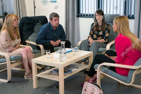 Ep 9508 Monday 16th July 2018 - 1st Ep Eva Price, as played by Catherine Tyldesley, Johnny Connor, as played by Richard Hawley, and Jenny Connor, as played by Sally Ann Matthews, attend a mediation session to discuss Susie's future. When Johnny pulls out the fake birth certificate, a shocked Eva's forced to admit her regret over her crazy plan. Sensing the fight is getting dirty Eva twists the knife, pointing out she wouldn't trust Jenny to look after a baby with her track record. As the session descends into a row Johnny despairs.