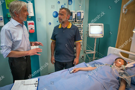 Ep 9502 Monday 9th July 2018 - 1st Ep The doctor examines Jack Webster's, as played by Kyran Bowes, feet and asserts he has ischaemia, the consultant breaks the news that it is spreading and tells a stunned Kevin Webster, as played by Michael Le Vell, they need to amputate Jack's foot.