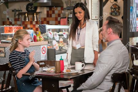 Ep 9518 Friday 27th July 2018 - 1st Ep Billy Mayhew, as played by Daniel Brocklebank, is proud to discover that Summer, as played by Matilda Freeman, has been nominated for a good samaritan award for her Speak and Save scheme.