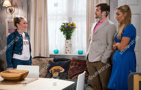 Ep 9516 Wednesday 25th July 2018 - 1st Ep Gemma Winter, as played by Dolly-Rose Campbell, and Henry Newton, as played by George Banks, talk about the changes they are going to make to the Rovers, with Eva Price, as played by Catherine Tyldesley.