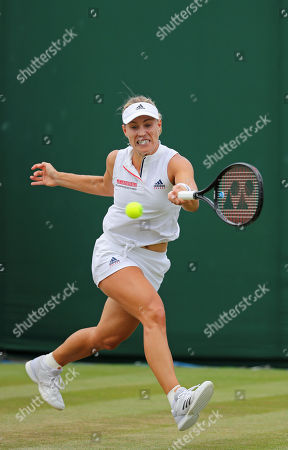 Angelique KERBER (GER) in action in the match against Claire LIU (USA), Wimbledon Championships 2018, Day Four, All England Lawn Tennis & Croquet Club, Church Rd, London, United Kingdom - 5 Jul 2018