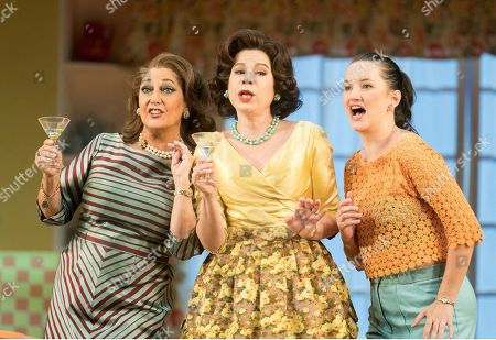 Marie McLaughlin as Meg Page, Ana Maria Martinez as Alice Ford, Anna Prohaska as Nannetta,