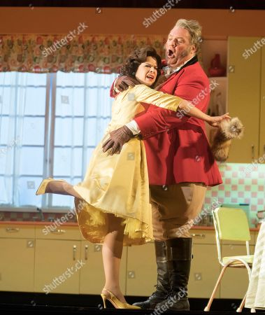 Bryn Terfel as Sir John Falstaff, Ana Maria Martinez as Alice Ford,