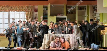 Stock Photo of Frederic Antoun as Fenton, Anna Prohaska as Nannetta