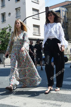 Editorial picture of Street Style, Day One, Fall Winter 2018, Haute Couture Fashion Week, Paris, France - 02 Jul 2018