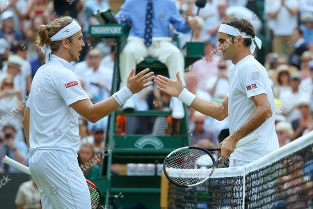 Lukas Lacko, Roger Federer