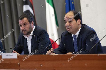 Matteo Salvini and Ahmed Maiteeq