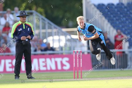Luke Wood during the Natwest T20 Blast North Group match between Lancashire County Cricket Club and Worcestershire County Cricket Club at the Emirates, Old Trafford, Manchester. Picture by George Franks