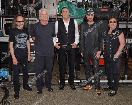 Stock Photo of Grand Funk Railroad - Mel Schacher, Don Brewer, Max Carl, Bruce Kulick, Tim Cashion