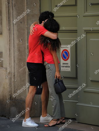 Editorial picture of Afef Jnifen out and about, Milan, Italy - 05 Jul 2018