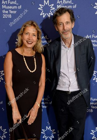 Iwona Blazwick (L) with guest