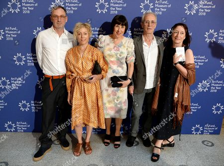 Stock Photo of Gary Hume, Georgie Hopton, Alice Rawsthorn, David Batchelor and Anne Gallagher