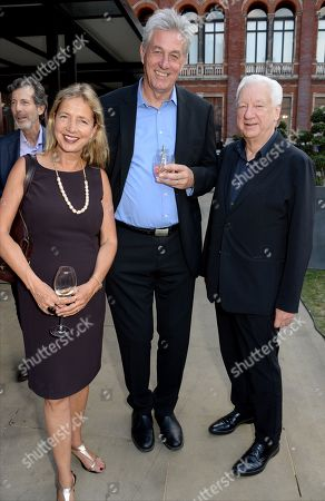 Stock Picture of Iwona Blazwick, Guest and Michael Craig-Martin