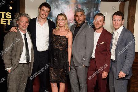 Dexter Fletcher, Max Irons, Margot Robbie, Simon Pegg and Nick Moran