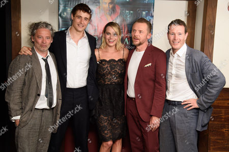 Dexter Fletcher, Max Irons, Margot Robbie, Simon Pegg and Nick Moran