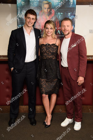 Max Irons, Margot Robbie and Simon Pegg