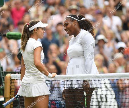 Viktoriya Tomova and Serena Williams