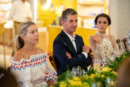 Stock Image of Pippa Vosper, Alain Harfouche and Rosanna Falconer