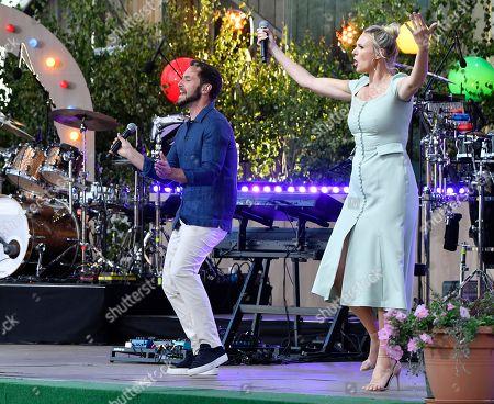 Editorial photo of Mans Zelmerlow in concert at Sing-Along at Skansen, Stockholm, Sweden - 03 Jul 2018