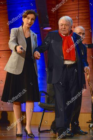 Audrey Azoulay and Claude Lanzmann