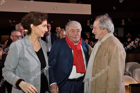 Audrey Azoulay, Claude Lanzmann and Jerome Clement
