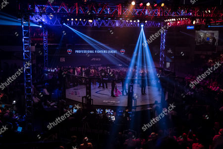 A general view of the venue prior to the welterweight fight between Jake Shields and Ray Cooper III at the Charles E. Smith Center at George Washington University in Washington, District of Columbia
