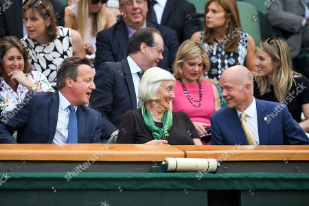 David Cameron, mother Mary Cameron and William Hague in the Royal Box