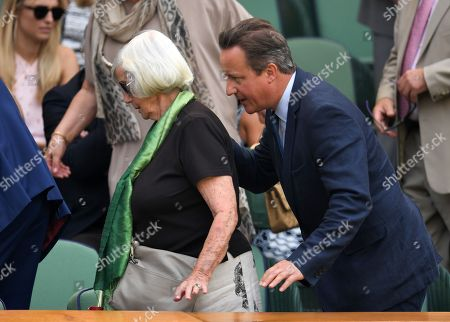 David Cameron and mother Mary Cameron in the Royal Box