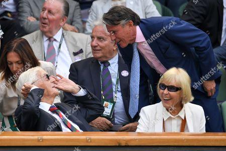 Sir Michael Parkinson, Mary Parkinson and Lord Sebastian Coe in the Royal Box