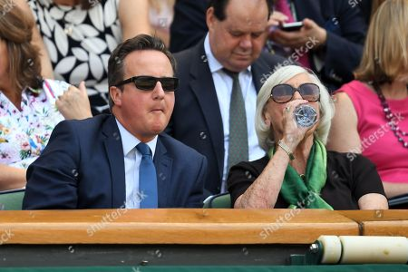 Stock Photo of David Cameron and mother Mary Cameron in the Royal Box