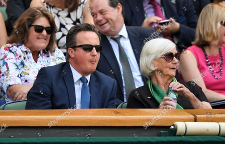 Stock Picture of David Cameron and mother Mary Cameron in the Royal Box