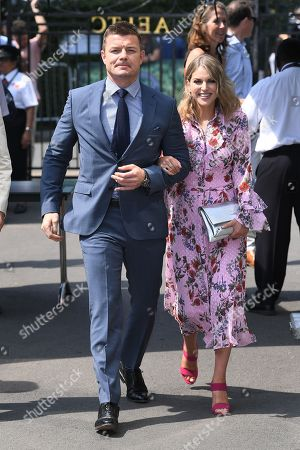 Stock Image of Brian O'Driscoll and Amy Huberman
