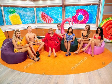Ranvir Singh, Kate Garraway, Richard Arnold and Love Island contestants - Charlie Frederick, Hayley Hughes, Zara McDermott and Rosie Williams