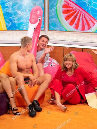 Kate Garraway, Richard Arnold and Love Island contestant Charlie Frederick